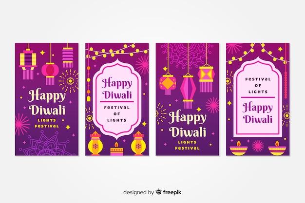 Coleção de postagens do instagram de diwali