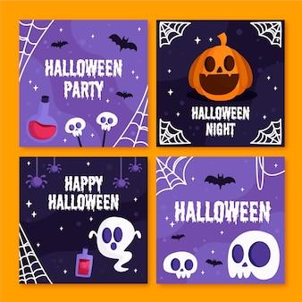 Coleção de postagens do instagram de halloween