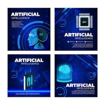 Coleção de postagens do instagram de inteligência artificial