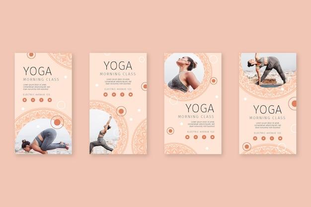 Coleção de postagens do instagram de ioga