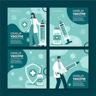 Coleção de postagens do instagram de vacinas