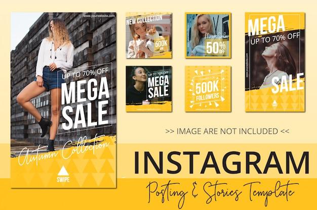 Coleção de postagens do instagram de venda de beleza