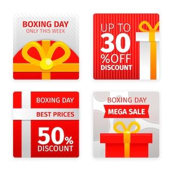 Coleção de postagens do instagram de venda de boxing day