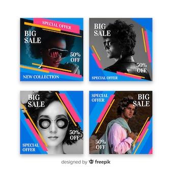 Coleção de postagens do instagram de venda de óculos