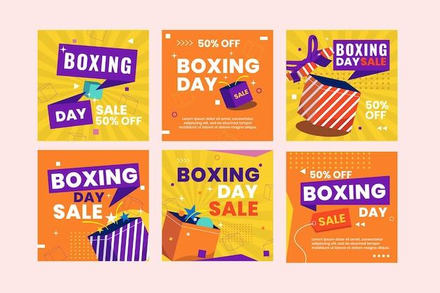 Coleção de postagens do instagram de venda do flat boxing day