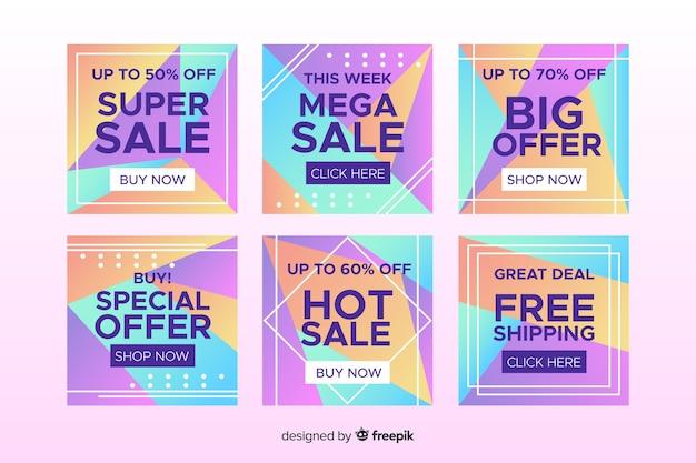 Coleção de postagens do instagram de venda quente