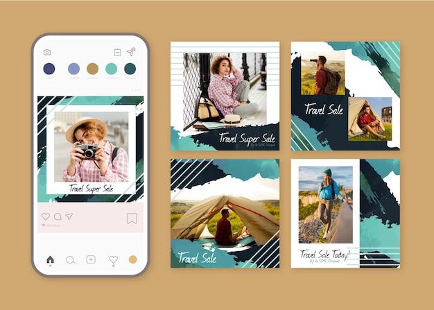 Coleção de postagens do instagram de vendas itinerantes
