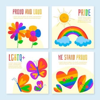 Coleção de postagens do instagram do dia do orgulho orgânico