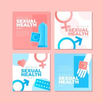 Coleção de postagens do instagram do dia mundial da saúde sexual gradiente