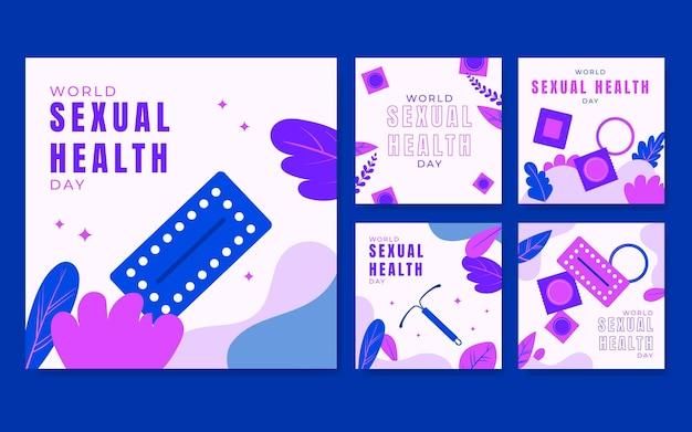 Coleção de postagens do instagram do dia mundial da saúde sexual