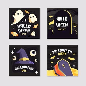 Coleção de postagens do instagram do festival de halloween