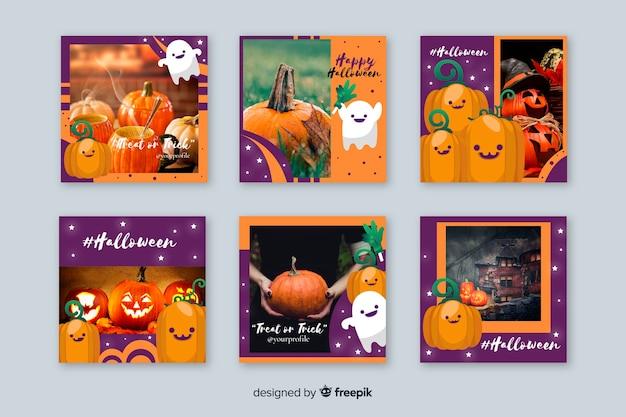 Coleção de postagens do instagram halloween