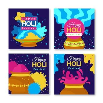 Coleção de postagens do instagram holi