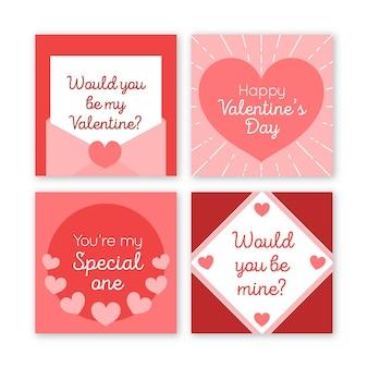 Coleção de postagens do instagram para o dia dos namorados
