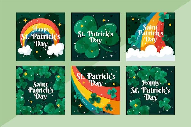 Coleção de postagens do instagram para st. dia de patrick