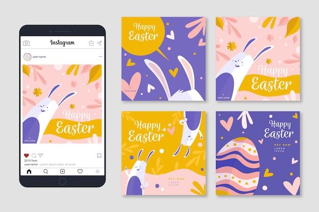 Coleção de postagens do tema do dia da páscoa