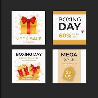 Coleção de postagens ig do boxing day
