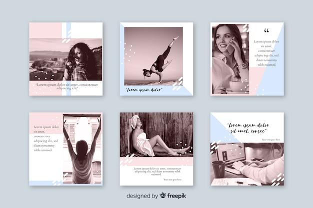 Coleção de posts do instagram
