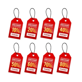 Coleção de prêmio de venda com desconto na etiqueta de preço