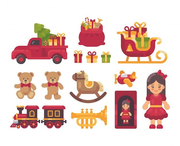 Coleção de presentes de natal.