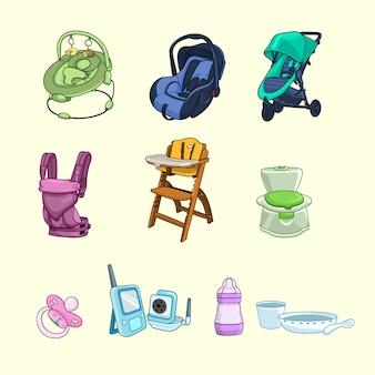 Coleção de produtos para bebês