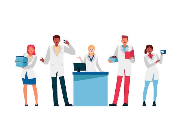 Coleção de profissão farmacêutica