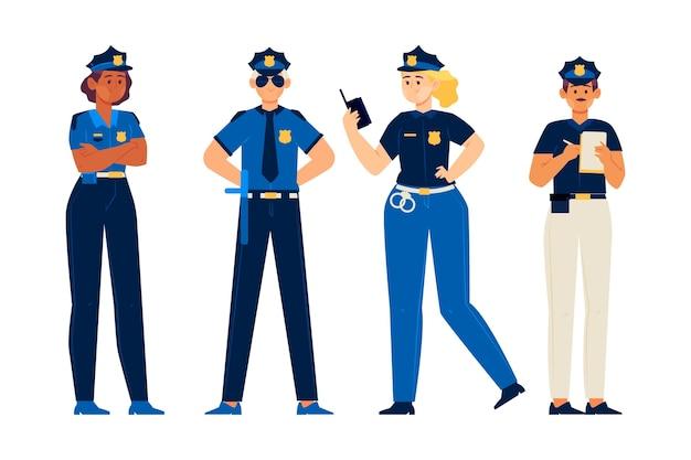 Coleção de profissão policial