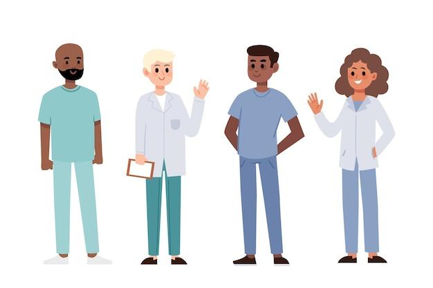 Coleção de profissionais de saúde