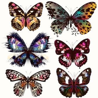 Coleção de projetos de borboletas