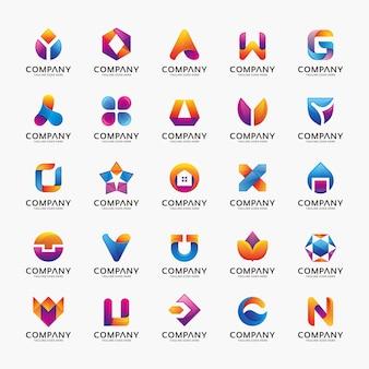 Coleção de projetos de logotipos