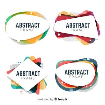 Coleção de quadros abstratos