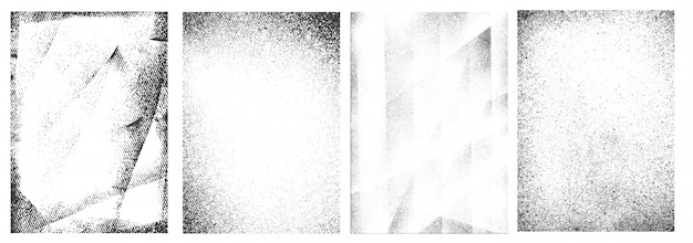 Coleção de quadros brancos grunge retrô