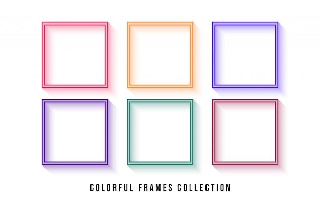 Coleção de quadros coloridos