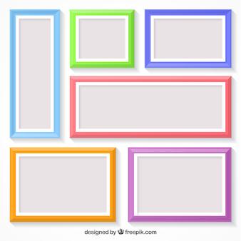 Coleção de quadros com cores diferentes