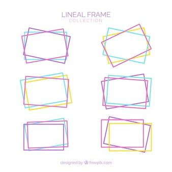 Coleção de quadros com estilo linear