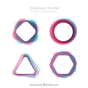 Coleção de quadros de gradiente
