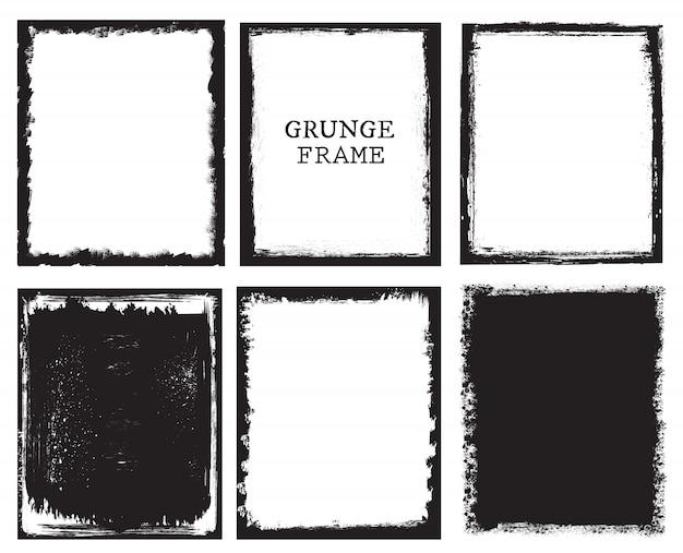 Coleção de quadros de grunge