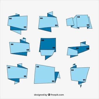 Coleção de quadros geométricos para mensagens