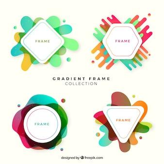 Coleção de quadros gradientes modernos