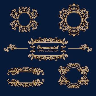Coleção de quadros ornamentais de luxo