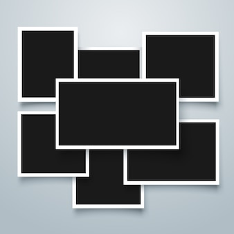 Coleção de quadros polaroid