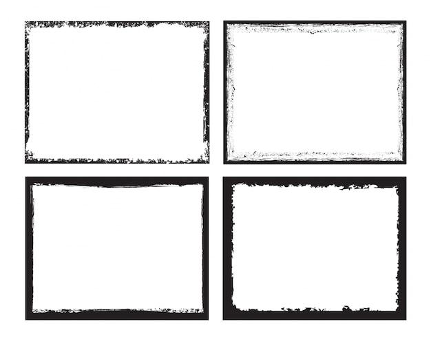 Coleção de quadros pretos