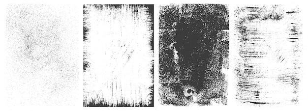 Coleção de quadros retangulares grunge abstrata
