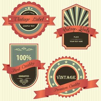 Coleção de qualidade premium com design de estilo retro vintage