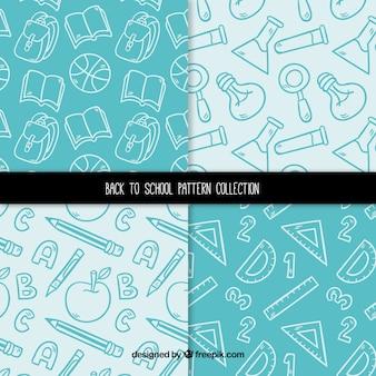 Coleção de quatro de volta aos padrões de escola