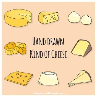 Coleção de queijo esboços
