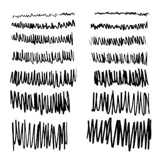 Coleção de rabiscos de caneta desenhada à mão