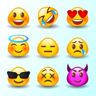 Coleção de reação do emoticon