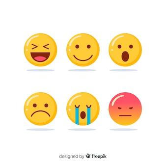 Coleção de reação emoticon