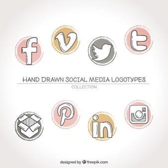 Coleção de redes sociais logos